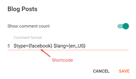 Comments Settings