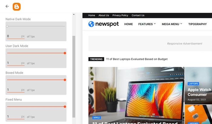 Newspot Boxed Mode